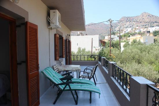 Janet&#39;s Apartments Elounda: Balcony of the 2 bedroom apartment