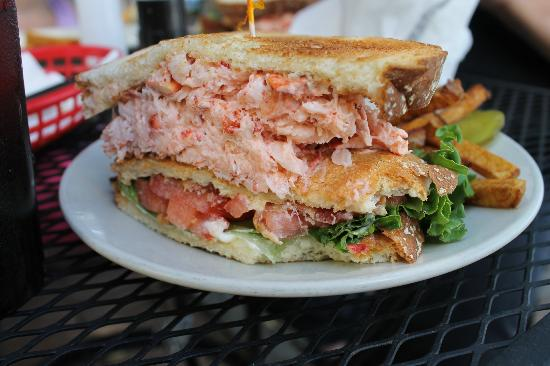 The famous Lobster Club Sandwich, Brass Compass Cafe, Rockland, ME ...