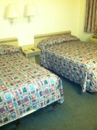 Motel 6 Minneapolis North: Very basic room. Clean sheets. Floors could have been vacuumed better. No fridge or alarm clo