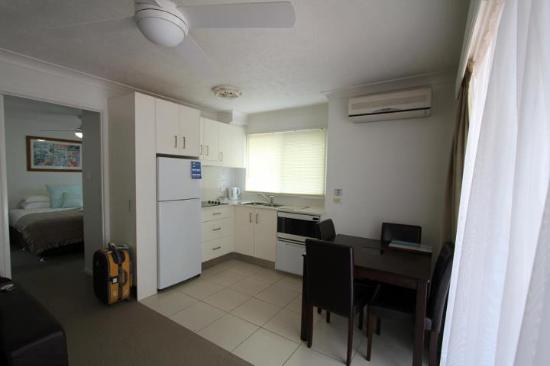 Costa D&#39;Ora Apartments: small kitchenette with fully equipped utensils &amp; cooking tools