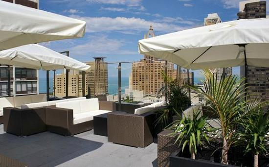 Sky terrace lake views picture of ivy boutique hotel for Top boutique hotels in chicago