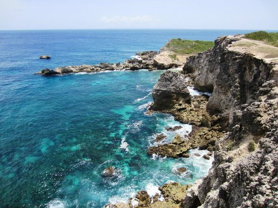 Saint Francois, Guadeloupe: The rugged coast