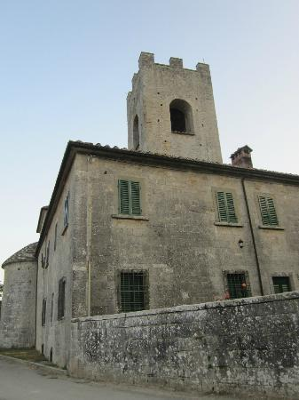 Badia a Coltibuono: outside the oldest part of the building