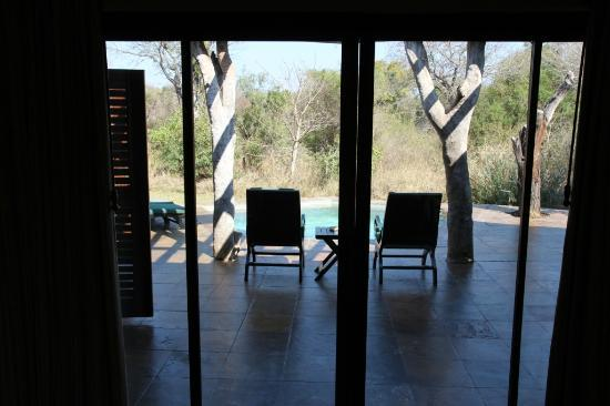 Sabi Sabi Bush Lodge: View of the suite terrace