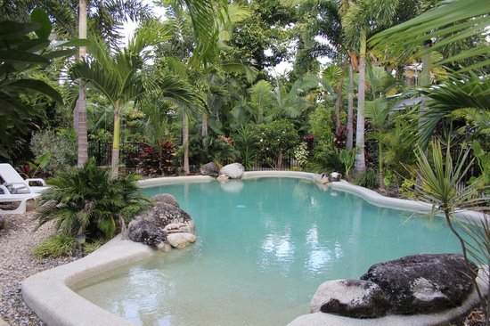 Boutique Bungalows: inviting salt-water swimming pool