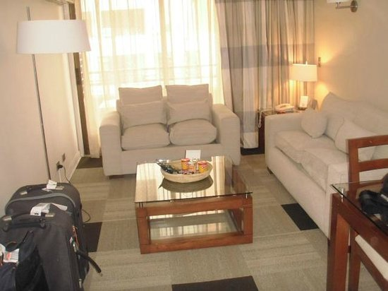 Plaza El Bosque Suites: Sala de estar