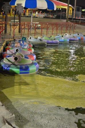 Mountasia Houston: Bumper Boats Shut Down - Water was disgusting and smelled.