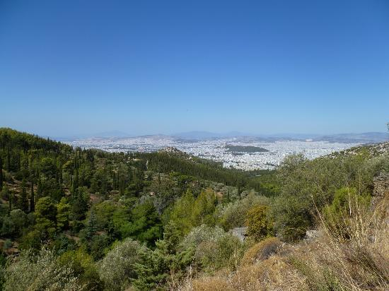 Short hike from Monastery, views of Athens - Picture of ...