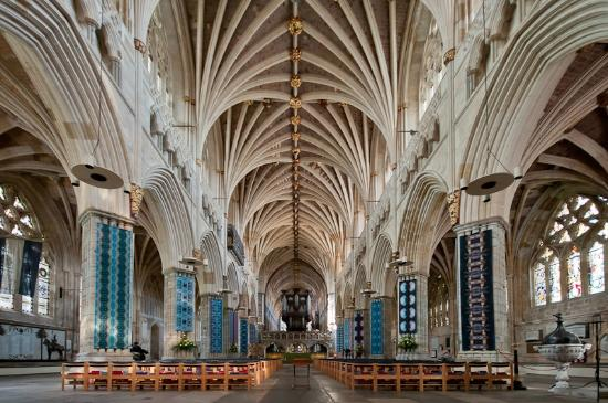 Vaulted ceiling picture of exeter cathedral exeter for Vaulted vs cathedral ceiling