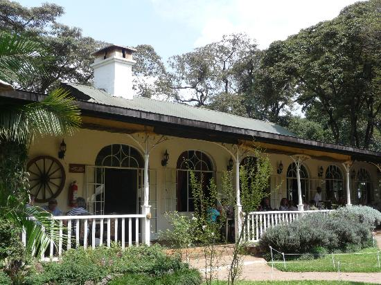 The old coffee factory that is now the main restaurant for Pool garden restaurant nairobi