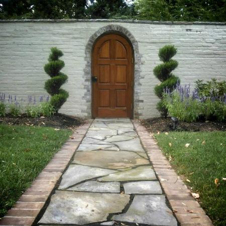 A Storybook Inn: Where does this door lead?  To the magical grounds of Storybook Inn!