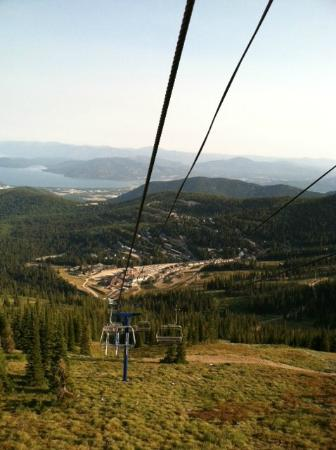 Schweitzer Mountain Resort Lodging: View of the village from chair lift