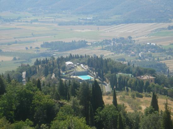 View towards Villa Valenza from Fortress