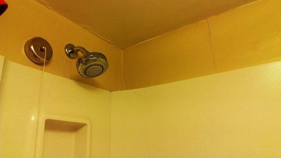 BEST WESTERN PLUS Harrisburg Airport Inn & Suites: Bubbled up walls above shower head