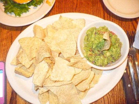 Blue Ridge Grill: Home made guacamole and (store-bought) chips