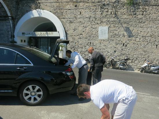 Amalfi Car Service Private Tours: Being dropped off at our hotel by Nicola from Amalfi Car Service