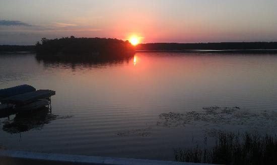 Maddens Resort on Gull Lake: Sunrise from our cabin balcony