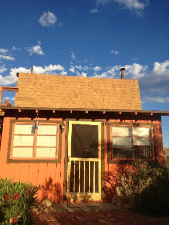 Desert Lily: View of the front of the cabin (Biltmore Bunkhouse)