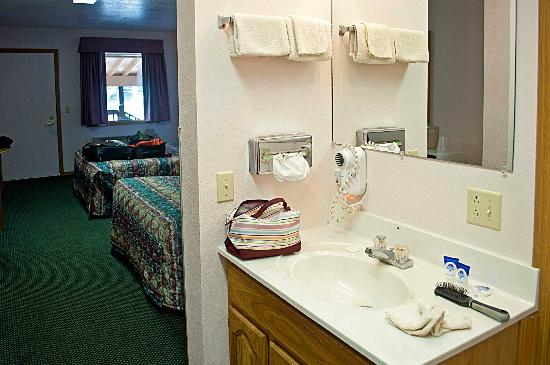 Americas Best Value Dakota Cowboy Inn: angolo lavandino