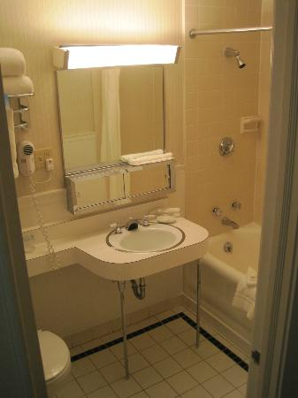 Hotel Fort des Moines: Room 525 bathroom