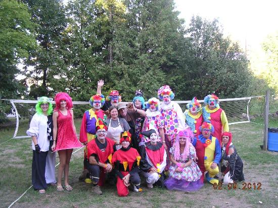Opeongo Mountain Resort: Halloween gang at the dinner