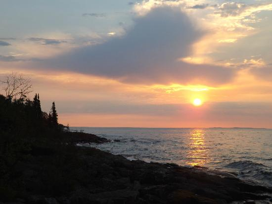 Grand Portage, MN: Sunrise over Lake Superior at Sweetgrass Cove