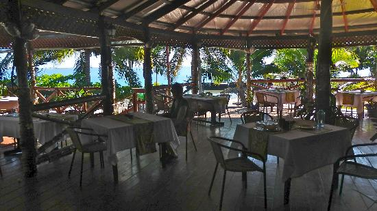 Asau, Samoa: The dining room/bar
