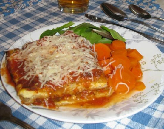 Brookville, PA: Veggie Lasagna - decadently rich!