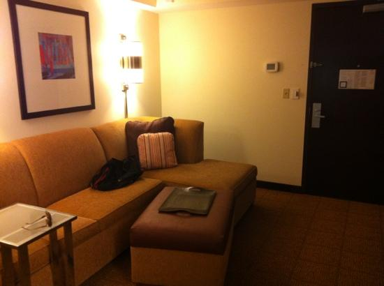 Hyatt Place Pittsburgh-North Shore: separate sitting area in king room