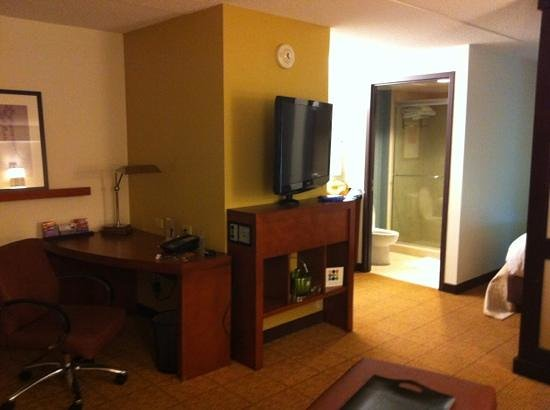 Hyatt Place Pittsburgh-North Shore: view of king room from sitting area