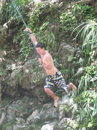 ZumaTours: ATV trip - tarzan rope at second waterfall