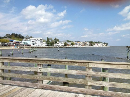 North Beach, MD: View from pier to houses
