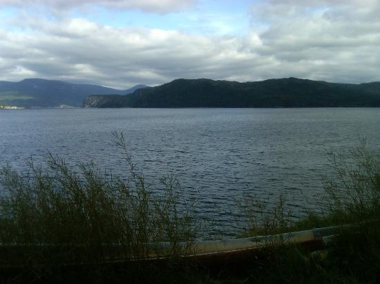 Red Mantle Lodge: the view from Woody Point