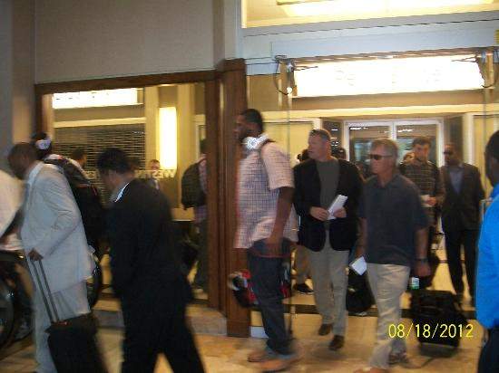 The Westin Convention Center Pittsburgh: Some of the COLT players entering hotel