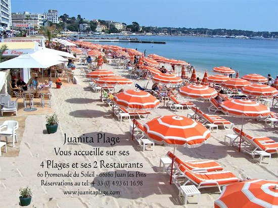 plage juanita restaurant juan les pins restaurant reviews photos tripadvisor. Black Bedroom Furniture Sets. Home Design Ideas