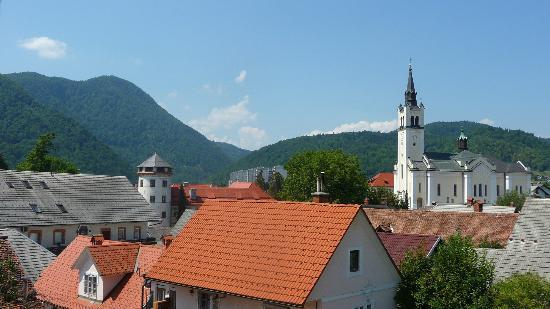 Turizem Loka: View from room 5 (Stara Loka castle and church)