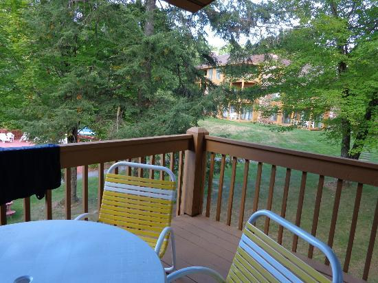 The Summit Resort: View from balcony, unit 210