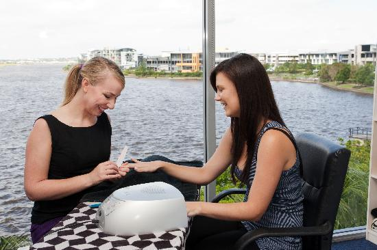 Gel nails shellac manicures overlooking the water for 7th heaven beauty salon