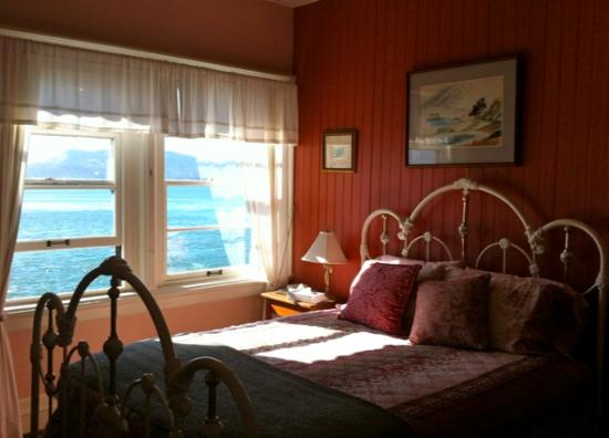 East Brother Light Station: Bedroom in main house. Stunning views.