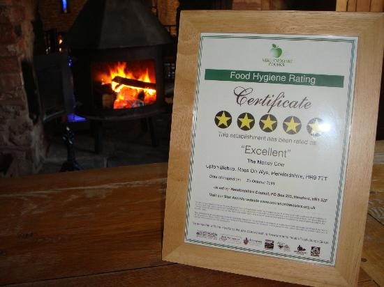 Upton Bishop, UK: 5 Star hygiene award
