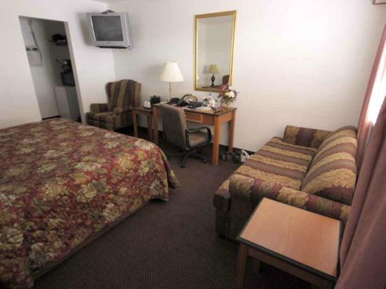 Grand Junction Palomino Inn: Watch TV from the bed or love seat.
