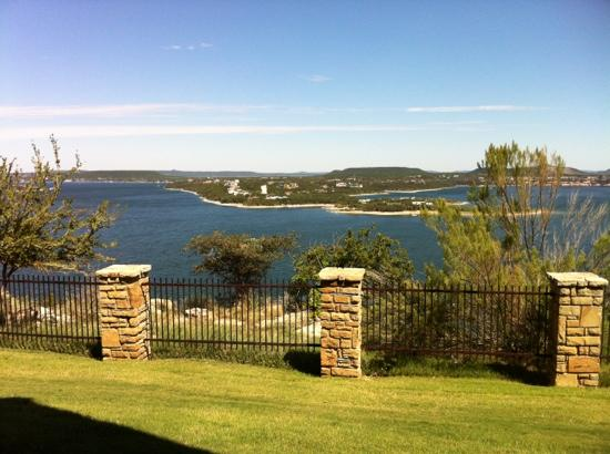 The Cliffs Resort: lake view from patio