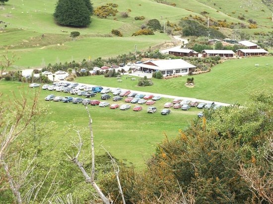 Catlins RiverRidge Retreat: Birds eye view of the Funtcion centre grounds & 2 suites