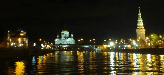 Moscow russia view from the boat