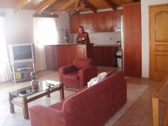 Corali Beach: our spacious lounge/ kitchen area