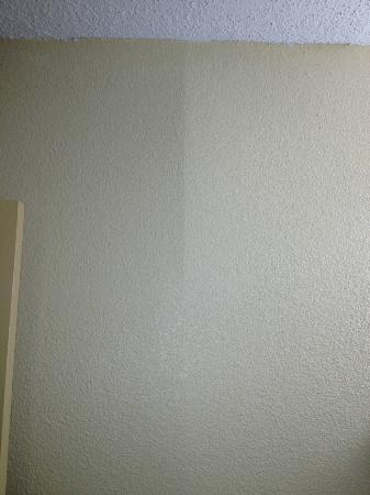 Quality Inn: This is the wall in the bathroom. It's also coming apart.
