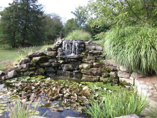 Whispering Pines Bed and Breakfast: waterfall feature on property