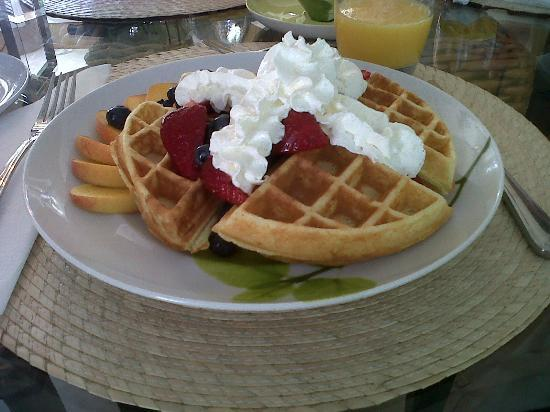 Lakelands Bed and Breakfast: Best Belgian Waffle Ever
