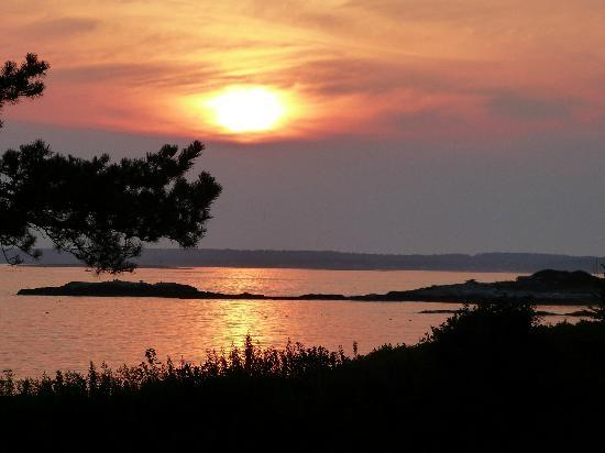Sebasco Estates, ME: sunset from the deck