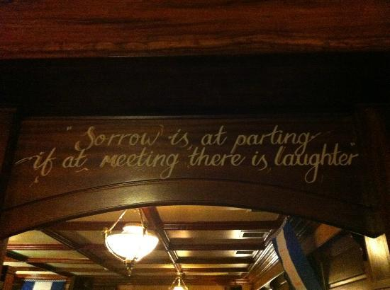 Grand Hotel: Sayings in and around the bar